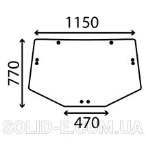 Стекло UPPER REAR CURVED John Deere 26/4072-60 (L156325, L171335, L202528)