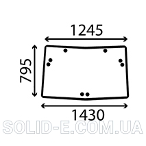 Стекло UPPER John Deere 26/4072-61 (R110990, RE51363)